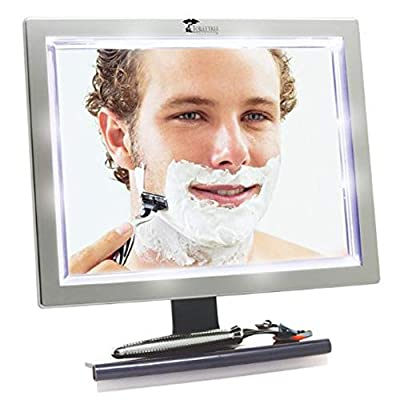 ToiletTree Products Deluxe LED Fogless Shower Mirror with Squeegee (Shower Mirror) by ToiletTree Products