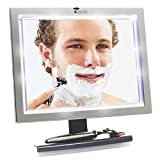 ToiletTree Products Deluxe LED Fogless Shower Mirror with Squeegee (Shower Mirror)