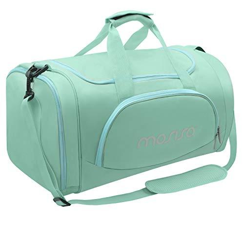 MOSISO Gym Sports Men/Women Dance Travel Weekender Duffel Bag with Shoe Compartment, Mint Green