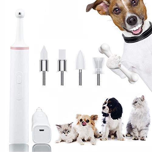 ZXWAN Haustier Elektrische ZahnbüRste Katze Und Hund Zahnreinigung Zahnsteinentfernung Puppy Zahnreinigungswerkzeug Halten Gesundheit ZäHnepink