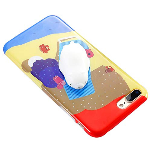 for iPhone 6 6S 7 8 Plus Case Squishy Mobile Phone Cases Cute Cat 3D Kneading Cover for iPhone 5 5S SE X 10 Funda Shell Polar Bear for iPhone 7 8