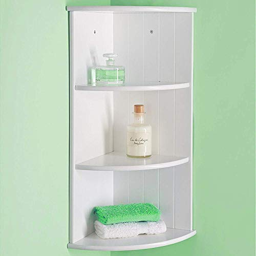 E4Emporium 3-Tier Wall Mounted Corner Shelf Bathroom Cabinet Unit