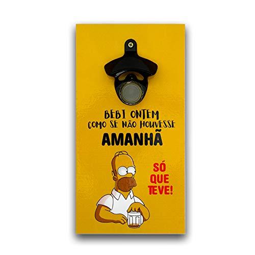 Abridor Garrafas Parede Homer Simpson Mdf Com Imã 25x13 Cm