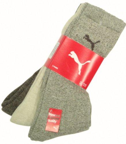 Puma Sportsokken, uniseks, pak van 9 stuks, bruin combi