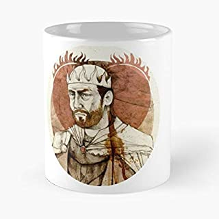 Stannis Baratheon Classic Mug - The Funny Coffee Mugs For Halloween, Holiday, Christmas Party Decoration 11 Ounce White Leinstudio.