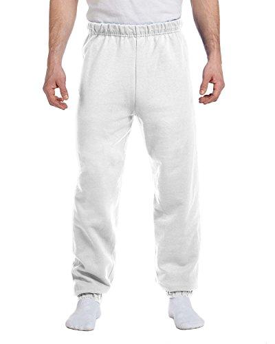 Jerzees 8 oz, 50/50 NuBlend Fleece Sweatpants, Small, White