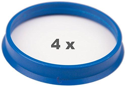 4 x pneugo! Bagues de centrage pour jantes alu 65.1 mm - 60.1 mm