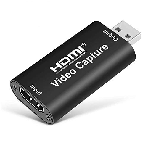 DAWNDEW Audio Video Capture Cards -1080P 30Hz HDMI to USB 2.0 Record Full HD USB Record via DSLR Camcorder Action Cam for Video Gaming, Streaming, Live Broadcasting and Facebook Portal TV Recorder