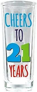 Amscan 210390 21st Birthday shot-glasses, 3 oz, Multicolor