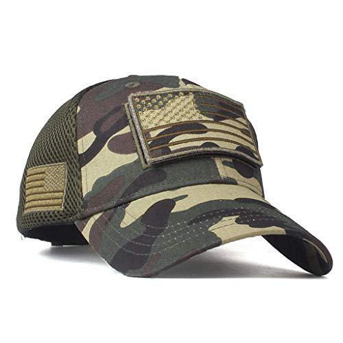 RISTHY Gorras Militar Deportes al Aire Libre Unisex Gorras Béisbol Camuflaje Sombrero de Sol Adjustable Americana Cap Visera Clásico Hip-Hop Moda Casual para Mujer y Hombre