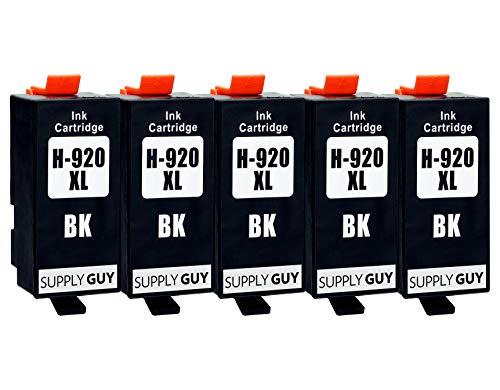 Supply Guy 5 Druckerpatronen kompatibel mit HP 920 XL 920XL HP920XL CD975AE (Schwarz) passend für HP OfficeJet 6000 6500 6500a 6500a Plus 7000 7500a
