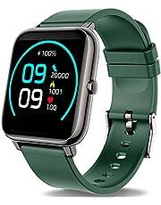 Popglory Smart Watch, Fitness Tracker met Bloed Zuurstof, Bloeddruk, Hartslagmonitor, IP67 waterdichte Smartwatch Fitness Horloge Smart Watch voor Mannen Vrouwen voor Android iOS, Groen