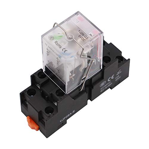 24V DC 3 Year Warranty API-ELE Electromagnetic Power Relay MY2NJ HH52P Coil 2PDT 2NO+2NC 8 Pins 5A with Indicator Light With Base