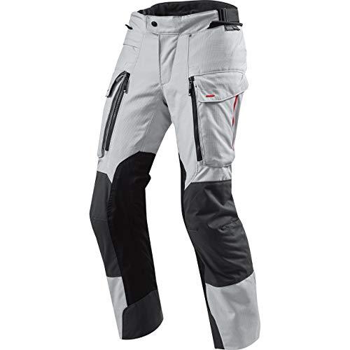 REV'IT! Motorradhose Sand 3 Textilhose Silber/anthrazit S, Herren, Enduro/Reiseenduro, Ganzjährig