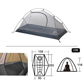 Naturehike Tente de Camping et randonnée Ultra Légère 1 Personne,3-4 Saisons,Installation Facile Double Couche Tente Ventilée Empêcher la Condensation,Imperméable
