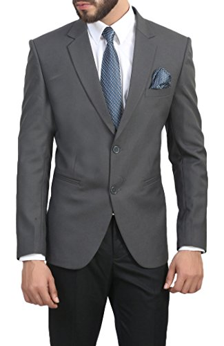 MANQ Men's Slim Fit Formal/Party Blazer Grey