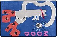 ムードキャットアートプリントスーパーソフトインドアモダンエリアラグふわふわラグダイニングルームホームベッドルームカーペットフロアマットベビーキッズ犬猫60x39インチ-80x58インチ