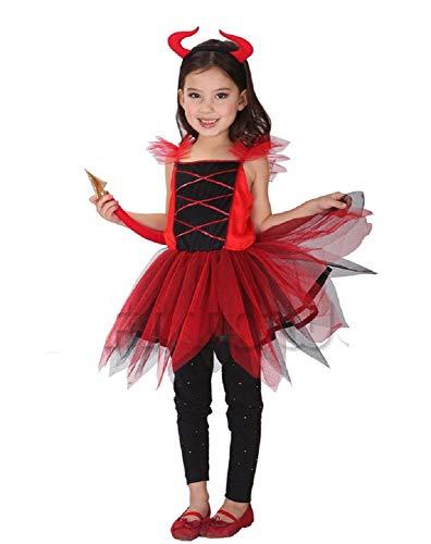 Inception Pro Infinite Talla L - 6 - 7 años - Traje - Disfraz - Carnaval - Halloween - Diablo - Demonio - Infernal - Rojo - Niña
