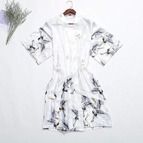 YRTHOR Bedruckte Frauen Rayon Nachtwäsche, Sommer Halbarm Robe Casual Kimono...