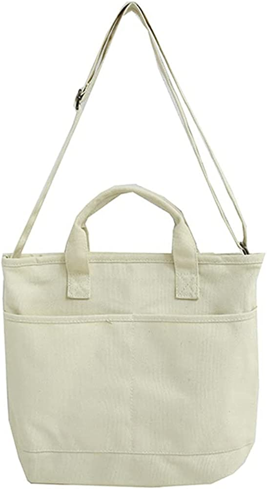 HUALEENA Women's Canvas Crossbody Bag Tote Bag Vintage Shoulder Bag Shopping Bag Casual Hobo Bag