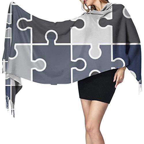 Kevin-Shop 27 'x 77' meisjesdoeken en verpakkingen moeilijk eindeloze puzzel verbetert sjaal-kasjmier-sjaal voor vrouwen, stijlvolle grote warme deken