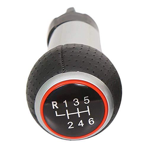 SODIAL Para Audi Shifting Ball 6 Gear para Audi A3 A4 B6 B7 B8 A6 S4 B8 8K A5 8T Q5 8R Negro Rojo