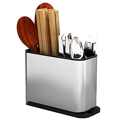 Portacuchillos cocina Soporte de cuchilla de acero inoxidable Soporte de cuchillo vacío rectangular con cuchillo Slot Soporte de cuchilla Encimera Cocina Cocina Cuchillo vacío Titular Bloque cuchillos