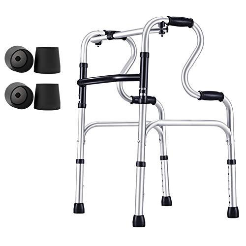 YXX- Rollator Gehhilfen Senioren Rollender Medical Walker Für Senioren, Ältere Und Große Menschen, Aluminium-Rollator Mit Verstellbarem Bein Und Einer Kapazität Von 180 Kg Gehwagen