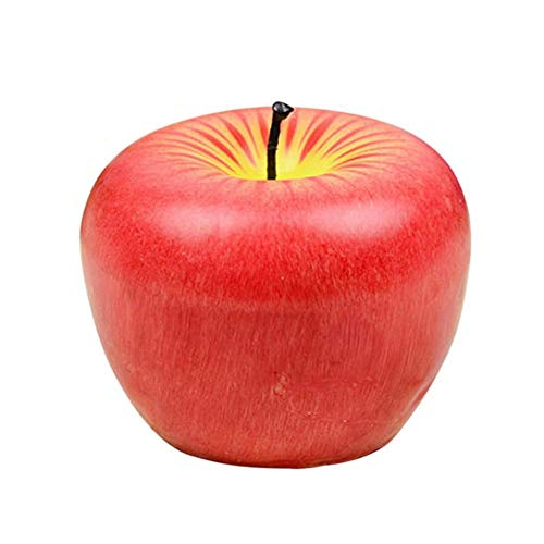 KASILU DIY Decorations Fruit Apple Shape Candle Christmas Candle Light Smokeless Non-Toxic Aromatherapy Candles Lamp for Birthday Wedding Decoration (Color : S)