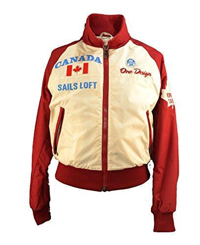 North Sails Jacke Kanada Ecru+Rot (S=46 EU)
