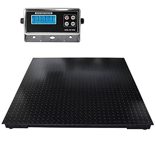 """SellEton Floor Scales, Accurate Pallet Scales with Smart Metal Digital Indicator for Warehouse Shipping and Heavy Duty Industrial Weighing 48""""x48"""", (10,000lbs x 1 lb)"""