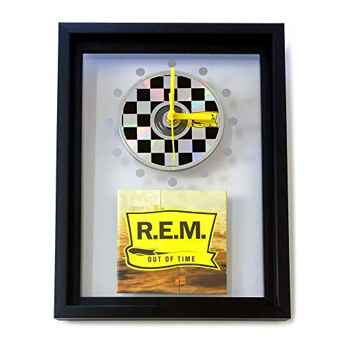 R.E.M. - Out Of Time: GERAHMTE CD-WANDUHR/Exklusives Design