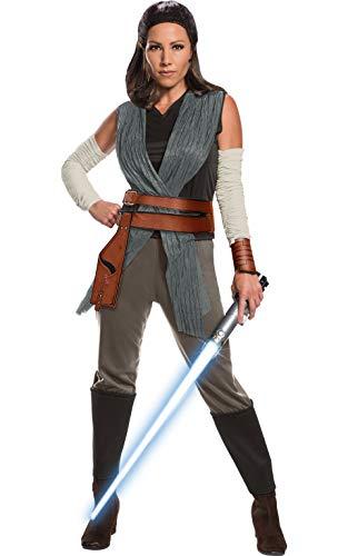 Rubie's Star Wars Episode VIII: The Last Jedi Women's Deluxe Rey Costume As Shown Large