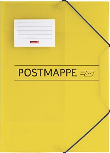 Brunnen 104705410 Sammelmappe / Postmappe (A4, transluzente PP-Folie, mit Gummizug)