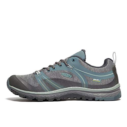 KEEN Women's Terradora Waterproof Hiking Shoe, Stormy Weather/Wrought Iron, 8.5 M US