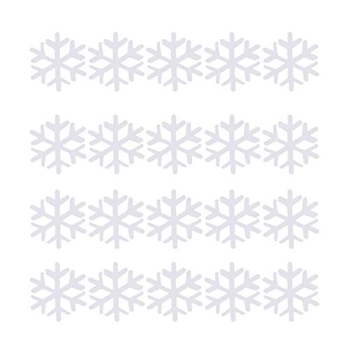 PRETYZOOM 1200 Pcs 18mm Christmas Snowflake Confettis White Seqins Snowflakes Table Scatters for Party Merry Christmas New Year Wedding Birthday Baby Shower (White)