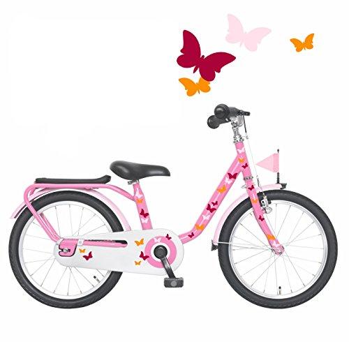 ilka parey wandtattoo-welt Fahrradaufkleber Set Schmetterlinge bunt rot rosa orange Fahrradsticker Aufkleber für Kinder M1077