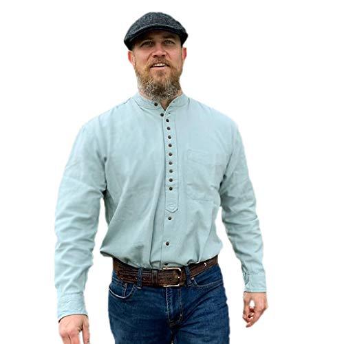 Celtic Clothing Company Irish Grandfather Collarless Shirt - Green (X-Large)
