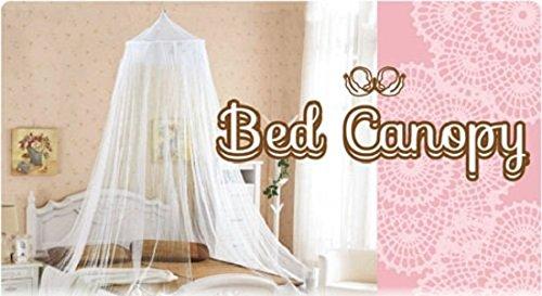 ビートルズ 天蓋カーテン ベッドカーテン レース ベッドキャノピー シングル ホワイト 00401-2