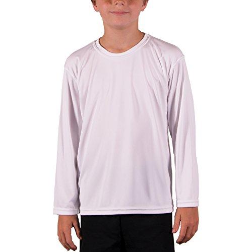 Vapor Apparel Youth UPF 50+ UV/Sun Protection Long Sleeve T-Shirt Large White
