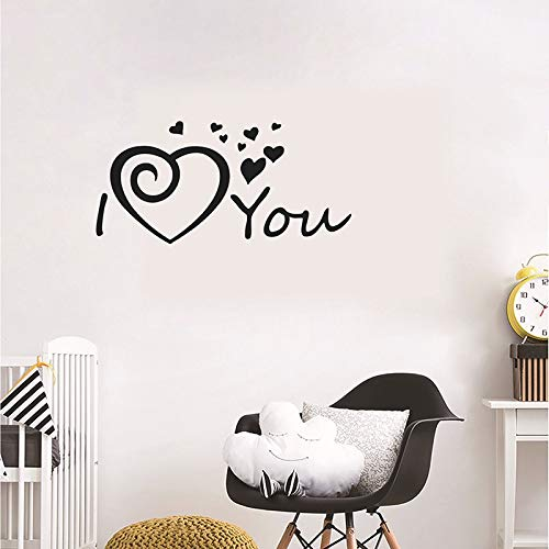 Love you calcomanía pegatina DIY PVC sala de estar dormitorio decoración de la ventana del hogar pegatina de pared papel tapiz A9 86x40cm