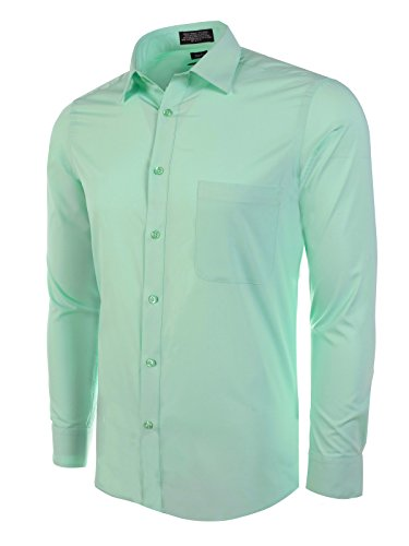 Marquis Slim Fit Dress Shirt - Wintergreen,Large 16-16.5 Neck 34/35 Sleeve