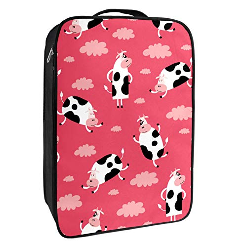 Caja de almacenamiento para zapatos de viaje y uso diario Happy Cow in the Sky Zapatero organizador portátil impermeable hasta 12 yardas con doble cremallera y 4 bolsillos