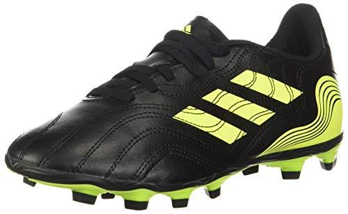 adidas Boy's Copa Sense.4 Firm Ground Soccer Shoe, Black/Solar Yellow/Solar Yellow, 6 Big Kid