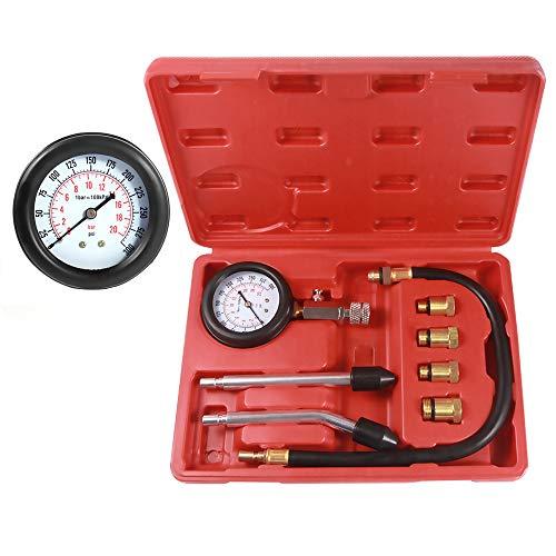 BETOOLL hw01308pcs Kit de Cilindro de Motor de Gasolina comprobador de compresión Automotive Herramienta Calibre