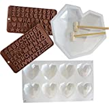 Herz Kuchenform, Silikon Schokolade Formen Silikonform Schokoladenformen 3D Silikon Kuchenform...