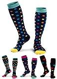 Damen Lange Sportstrümpfe Baumwolle Lustig Kniehoch Läufen Schule Sport Socken