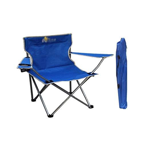 ACZZ Garten-Sitz, wasserdicht Anti-Rutsch-Klappstuhl Strand Stuhl Tragbarer Stuhl Rückenlehne Hocker Adult Outdoor-Camping-Stuhl im Freien Arbeitshocker,Blau
