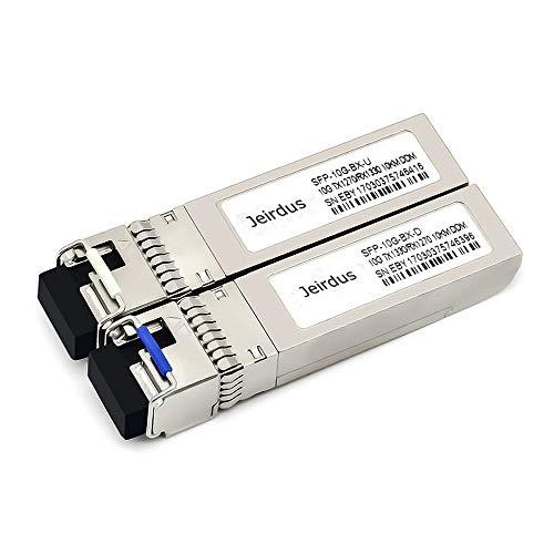 Jeirdus for Cisco SFP-10G-BXD-I/SFP-10G-BXU-I,a Pair of 10GBASE SFP+ Bidi Transceivers Module, 10-20KM