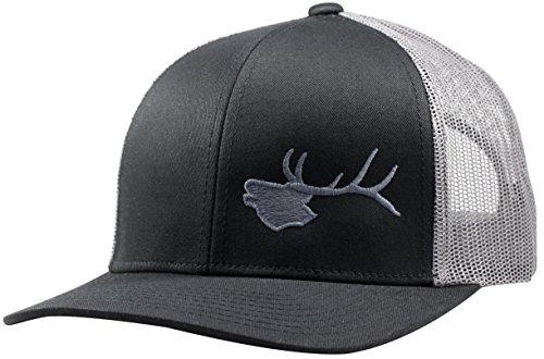 LINDO Trucker Hat - Bugling Elk (Black/Graphite)